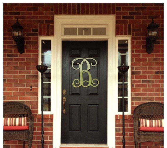 Monogram Front Door Decoration: Monogram Door Hanger Summer Door Decor Large By