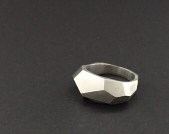 Silver Ring - Anillo de plata - Handmade - Hecho a mano - Made in Spain - Hecho en España - Poliedro