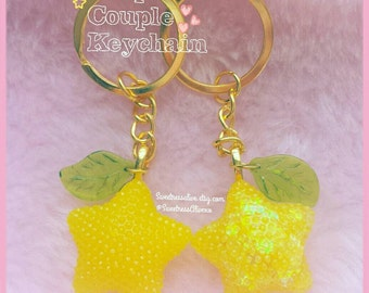Kingdom Heart Paopu Fruit Keychain or Necklace