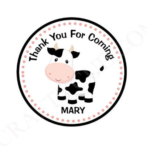 Cow Goody Bag Tags Favor