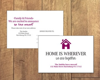 Moving Annoucement New Home Double Sided Postcard