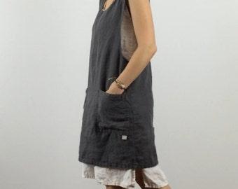 Linen Smock Dress / Apron Dress