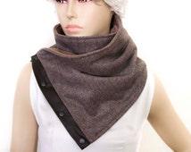 Men scarf,  men neckwarmer,Winter unisex  snaps scarf,unisex scarf ,unisex neckwarmer