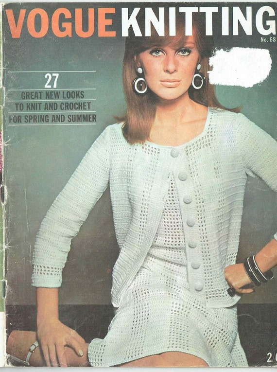 Vogue Vintage Knitting Patterns : Vogue knitting No68 vintage knitting and crochet magazine