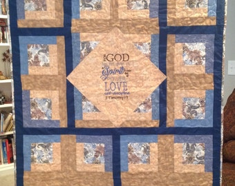 Baby Quilt With Bible Verses By Comfortquiltsforlife On Etsy