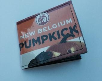 Upcycled Beer Wallet / New Belgium Pumpkick