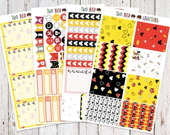 Mickey and Minnie Inspired Sticker Kit for Erin Condren Vertical Life Planner