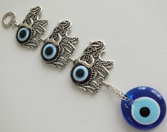 Evil Eye Wall Hanging hamsa wall hanging with evil eye hand of fatima home decor