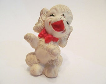 Vintage 1950's Rubber Squeaky Toy Dog / Edward Mobley Co Squeaky Toy