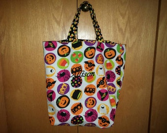 Halloween treat bag, personalized Halloween treat bag, monogram Halloween treat bag