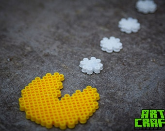 Pac Man Magnet set - Bead Art Handmade by Mini Creepy