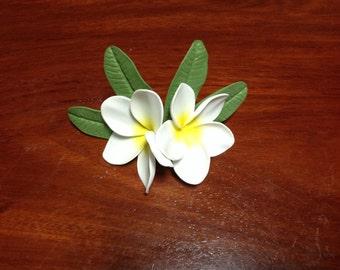 Hawaiian Frangipani Plumeria flower for  hat ,bag ,clip brooch ,decorate  by Floratiflower