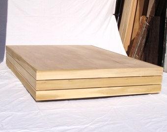 Floating Platform Bed frame - Poplar Asian Inspired