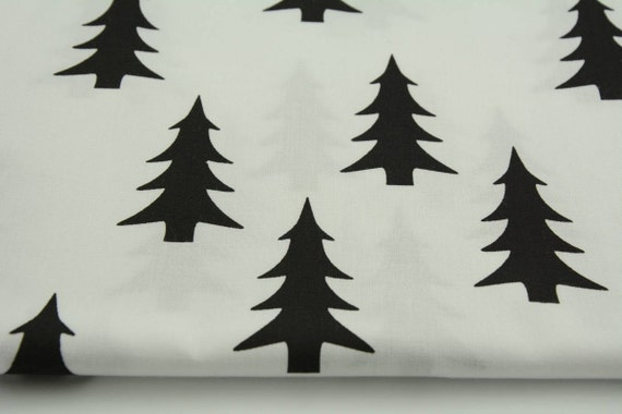 Baby Crib Sheet * Contoured Changing Pad Cover * Mini Crib Sheet * Black Christmas Tree on White * Made To Order