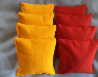 Cornhole bags Yellow and Red cornhole bean bags 8 ACA Regulation bags
