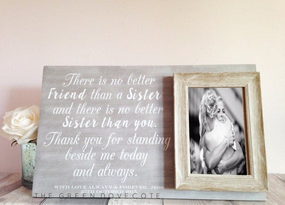 Wedding Gifts For The Bride From A Sister : Gifts For Sister Sister Gift Gift For Sister Sister Of