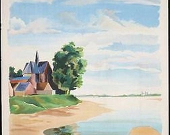 Vintage French National Railways Loire Valley Poster A3 Print