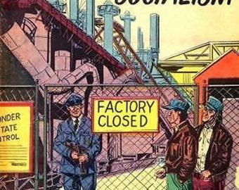 1950's America Under Socialism Poster A3 Reprint