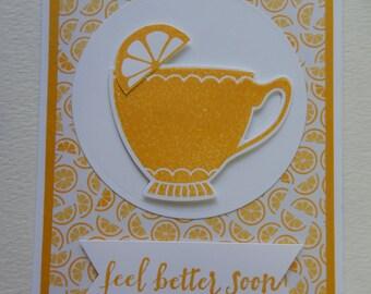Teacup Get Well Card