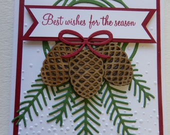 3 Pinecones Christmas Card
