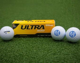 Customized Wilson Ultra Monogram Golf Balls
