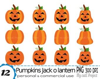 Pumpkin Clipart - Halloween Clipart - Pumpkin halloween - Jack O lantern - Pumpkin png - Pumpkins vector - Scrapbooking halloween - CA32