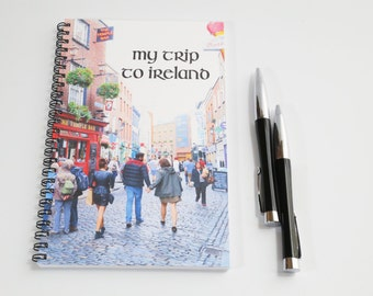 Ireland notebook, Blank Paper Notebook, Sketch book,  Irish gift, Temple bar journal, Travel journal, Wanderlust notebook, Dublin journal