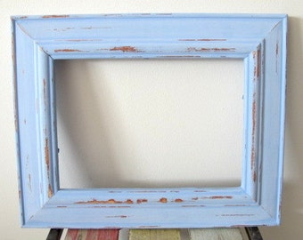 Rustic Frame Beach Distressed Frame Coastal Blue Wooden 5x7 Photo Frame Shabby chic picture frame