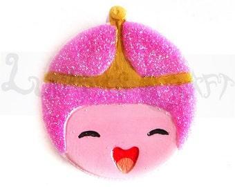 Princess Bubblegum, Adventure Time, Pins, Magnets, Resin, Charms, creations, cartoon, fan art