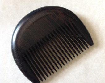 Organic Ebony Wood Beard Comb UB's Beard Basics Antistatic Sturdy Rare Exotic Hard Wood Durable Comb