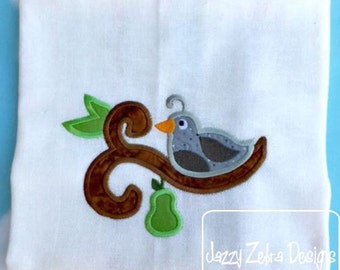 1st Day of Christmas a Partridge in a Pear Tree Appliqué Design