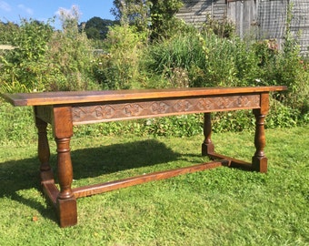 Refectory table oak and elm