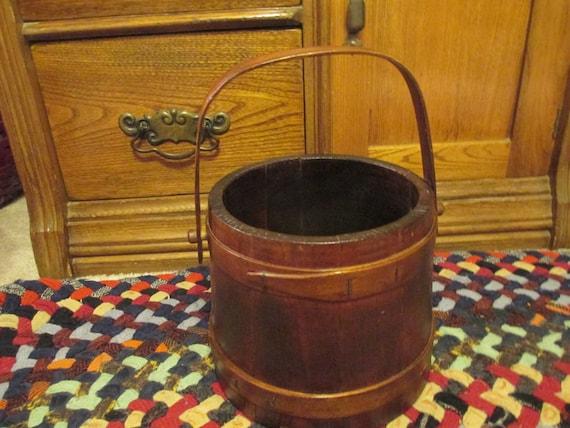 Vintage Wood Firken/Wood Bucket/Wood Sugar Firken