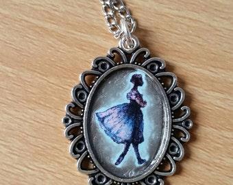 Blue Ballerina Pendant