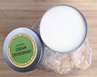 Natural Deodorant / Organic Deodorant /  Vegan Deodorant / Aluminum Free Natural Deoderant Cream for Men & Women  / 6 oz
