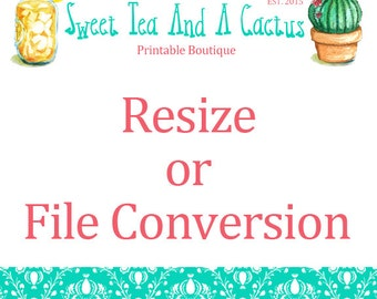 Re-size or File Conversion