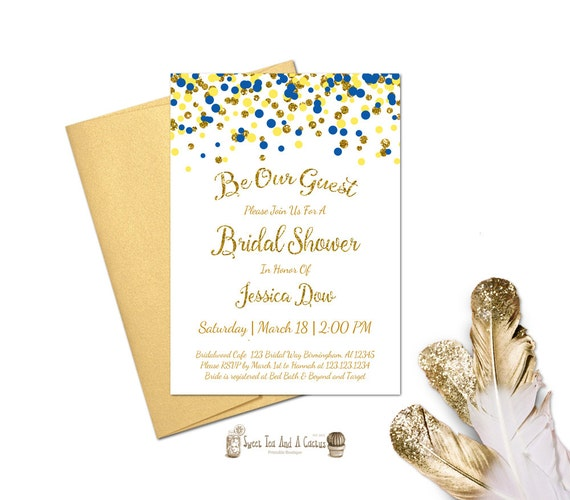 Beauty and the Beast Inspired Bridal Shower Invitation Wedding