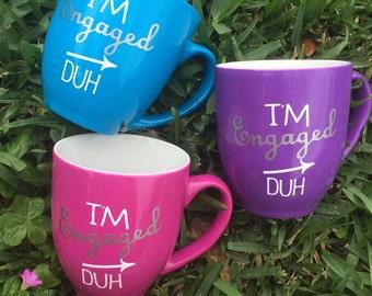 Im Engaged 12oz Bright Coffee Mug