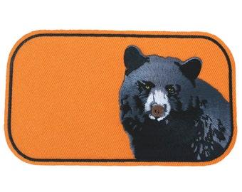 Black Bear iron on patch