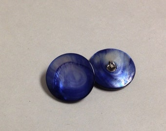 """Mother of Pearl Buttons - Blue  7/8"""""""