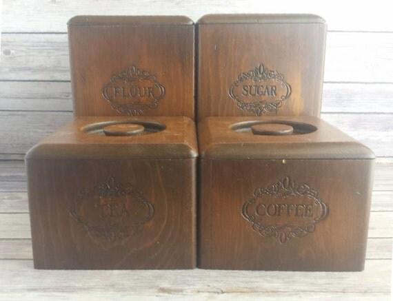 wooden kitchen canisters vintage primitive rustic rts wooden kitchen canisters from carmeldollshop on ruby lane