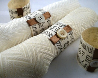 Come Ye Thankful People, Come Thanksgiving Napkin Rings
