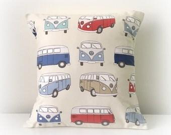 "Handmade VW Camper Van  Cushion Cover 16""  Cotton Pillow"