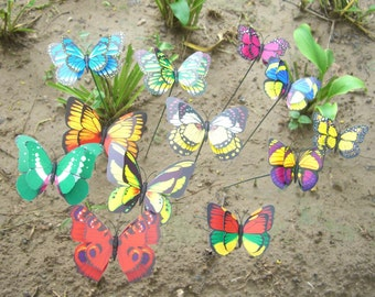Butterfly Garden Stake Sign,Plant Stakes,Butterfly Yard Herb Lawn Stake  Pick,Fairy