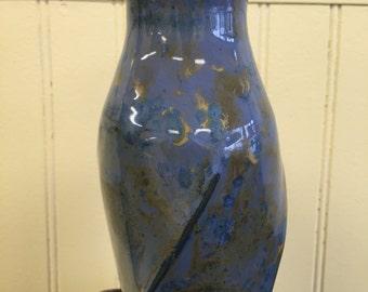 Blue Crystalline Vase