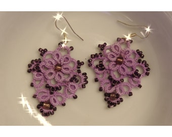 "Tatted Earrings ""Karen"" - tatting pattern"