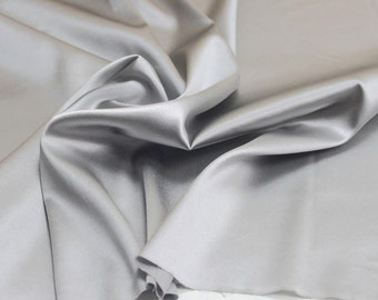 100% mulberry silk fabric color sliver pure charmuse silk fabric 45inch wide 16.5m/m for bedding dress sold by yard