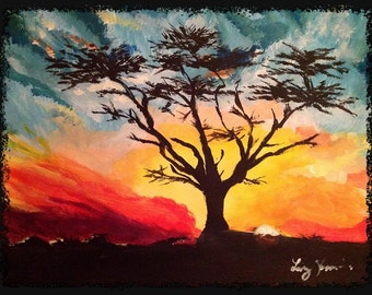 Savanna Tree Painting