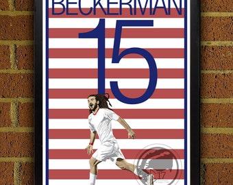 Kyle Beckerman 5 USMNT Poster - MLS - USA Soccer Poster- 8x10, 8.5x11, 13x19, poster art, wall decor home decor, gift