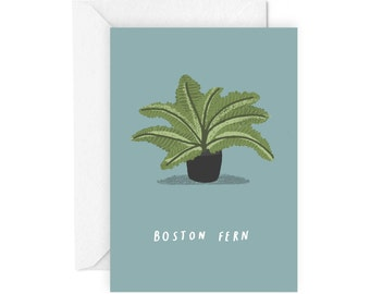 Boston Fern greetings card